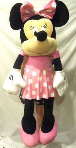"Disney Minnie Mouse 63"" Plush Cuddle Pillow Doll Toy-Licensed-New with Tags!!!"