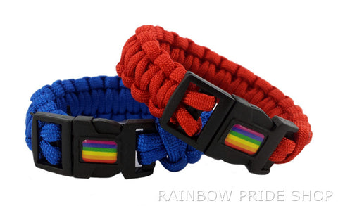 Paracord Bracelet with Rainbow - Rainbow Pride Shop