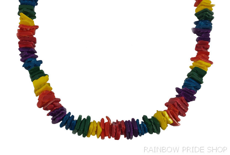 Rainbow Chip Shell Necklace - Rainbow Pride Shop