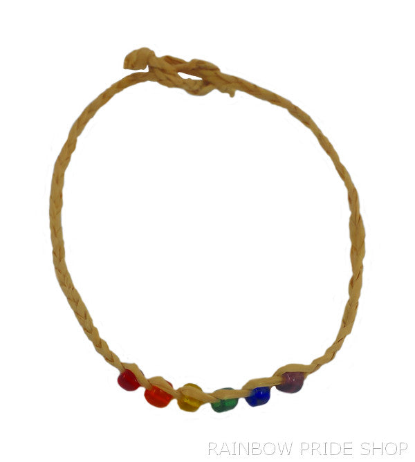 Rainbow Bead Wishlet String Bracelet - Rainbow Pride Shop
