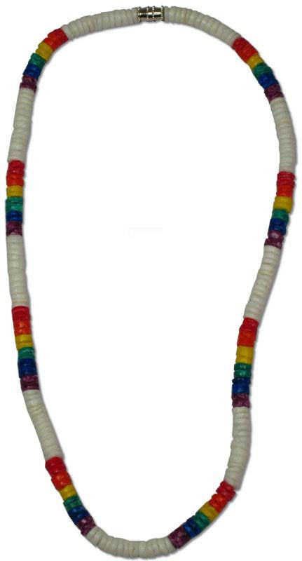 White Heishi Necklace with Rainbow - Rainbow Pride Shop