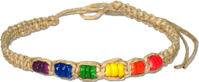 Hemp Rainbow Heishi Choker Necklace - Rainbow Pride Shop