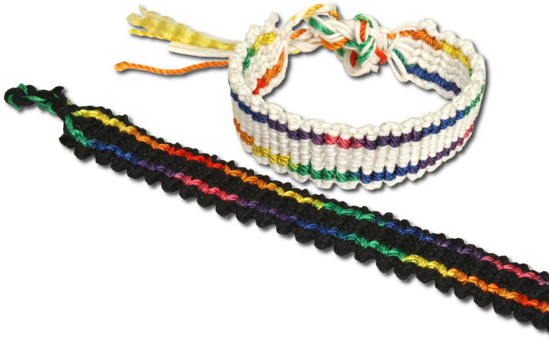 Wide Rainbow Friendship Bracelet - Rainbow Pride Shop