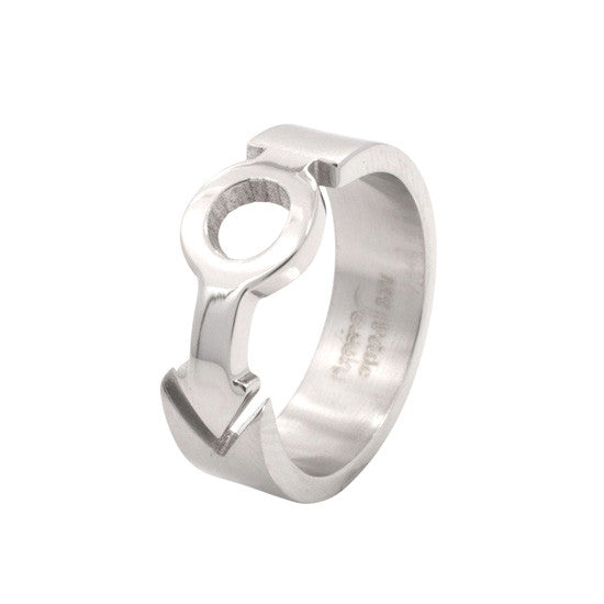 Male Mars Symbol Puzzle Design Stainless Steel Ring - Rainbow Pride Shop