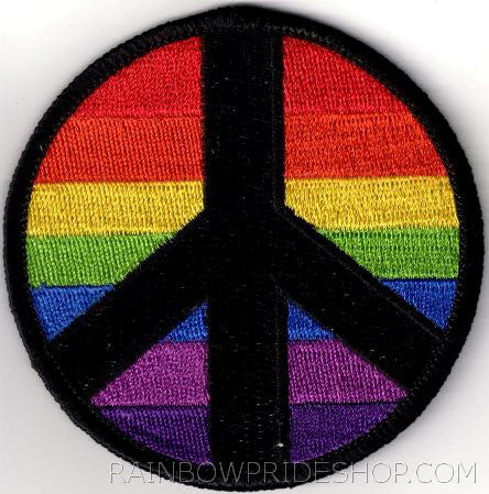 Rainbow Peace Patch - Rainbow Pride Shop