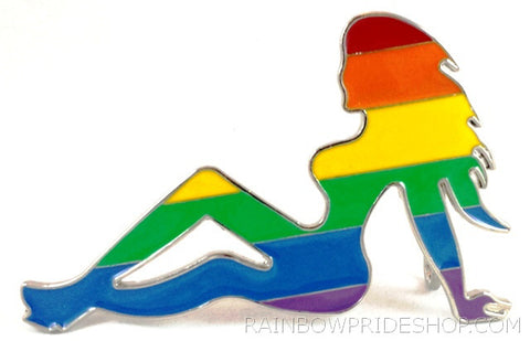 Rainbow Trucker Girl Belt Buckle - Rainbow Pride Shop