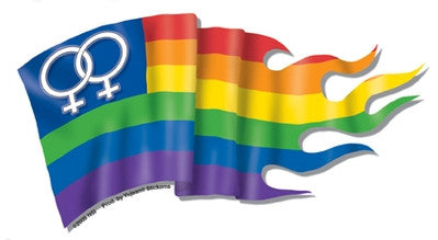 Female Pride Flag Sticker - Rainbow Pride Shop