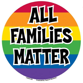 All Families Matter Sticker - Rainbow Pride Shop
