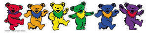 Greatful Dead Rainbow Dancing Bears Sticker - Rainbow Pride Shop