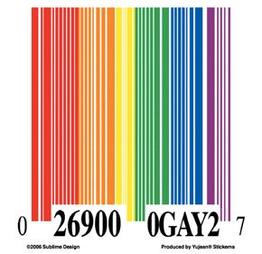 Rainbow Barcode Sticker - Rainbow Pride Shop