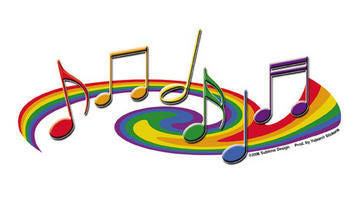 Pride Musical Notes Sticker - Rainbow Pride Shop