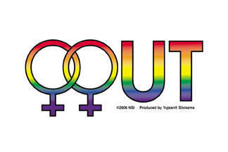 Female Out Pride Sticker - Rainbow Pride Shop