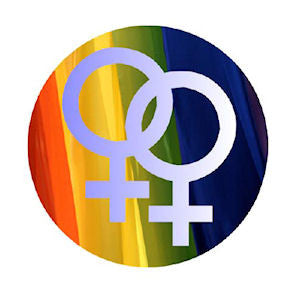 "Female Venus Symbol Button 2.25"" - Rainbow Pride Shop"