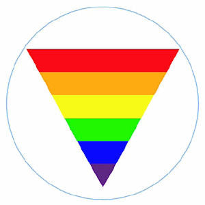 "Pride Triangle Button 2.25"" - Rainbow Pride Shop"