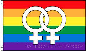 Rainbow Female Venus Symbol Flag - Rainbow Pride Shop