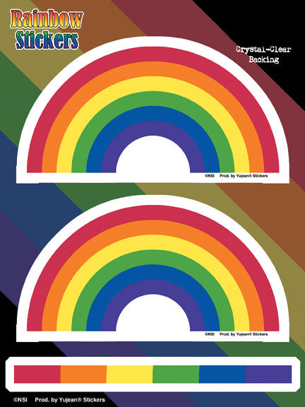 Rainbow 6 x 8 Sticker Set - Rainbow Pride Shop