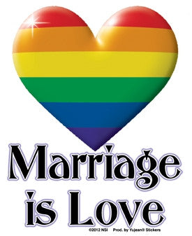 Marriage Is Love Sticker - Rainbow Pride Shop