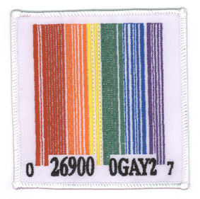 Rainbow Barcode Patch - Rainbow Pride Shop