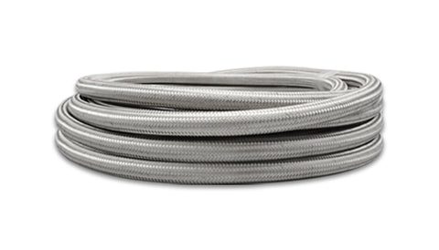 Vibrant Performance 11914 10ft Roll of Stainless Steel Braided Flex Hose; AN Size: -4; Hose ID 0.22""