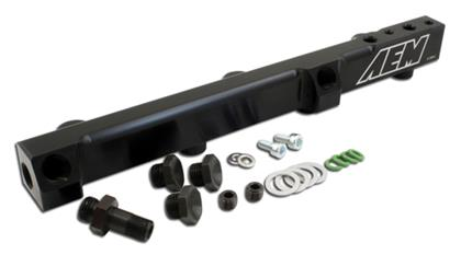 AEM 90-93 Accord DX/LX/SE/EX & 92-01 Prelude S/Si/Si VTEC Black Fuel Rail