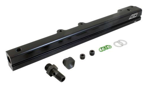 AEM 96-00 Civic CX/DX/LX/EX & 96-97 Del Sol S/Si Black Fuel Rail 25-109BK