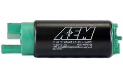 AEM 340lph E85-Compatible High Flow In-Tank Fuel Pump (65mm, Offset Inlet)