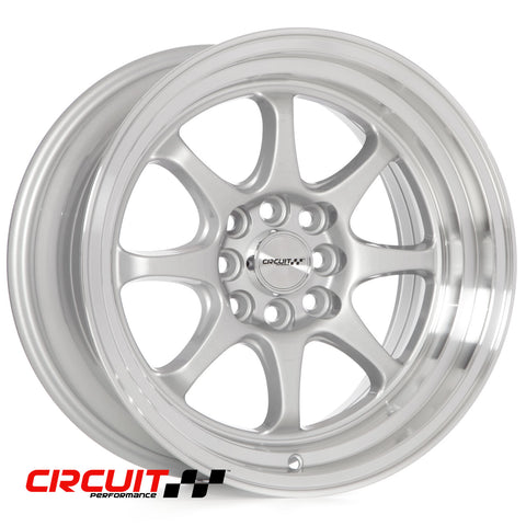 Circuit Performance CP25 16×8.5 Silver 4×100/4×114.3 [+22mm]
