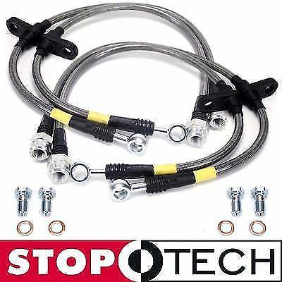STOPTECH STAINLESS STEEL BRAIDED FRONT + REAR BRAKE LINES FOR 90-93 ACURA INTEGRA