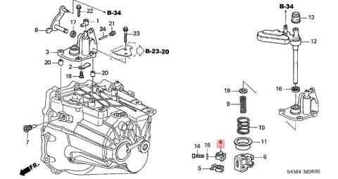 Honda OEM K Series Shift Arm 24411-PPP-010