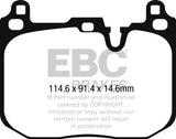 EBC 2015+ Mini Cooper John Cooper Works Redstuff Front Brake Pads DP32271C