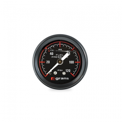 Grams Performance 0-120 PSI Fuel Pressure Gauge - Black Face G2-99-1200