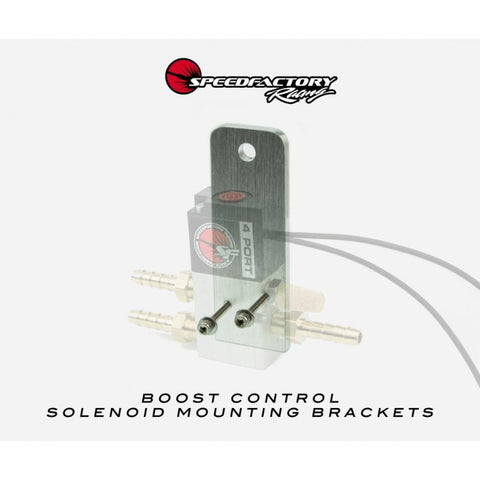 SpeedFactory Racing 4-Port Boost Control Solenoid Mounting Bracket with Hardware