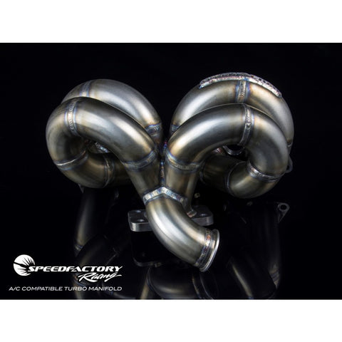 SpeedFactory Racing A/C Compatible RamHorn Turbo Manifold