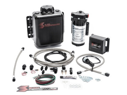 Snow Performance Stage 2 Boost Cooler Prog. Engine Mount Water-Methanol Inj. Kit (SS Braid Line & 4AN)