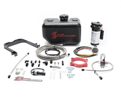 Snow Performance 14-17 Corvette Stage 2 Boost Cooler F/I Water-Methanol Inj. Kit (SS Braid Line & 4AN)