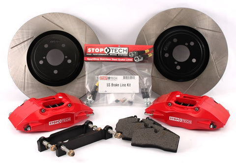 StopTech 02-06 RSX Type-S Touring Big Brake Kit: Red Caliper 82.058.5100.71
