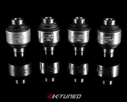 K-Tuned Front Upper Control Arms / Camber Kit Replacement Spherical Bushings  EK