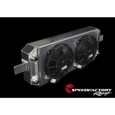 SpeedFactory Racing Aluminum Tucked Radiator with Fan and Shroud Kit