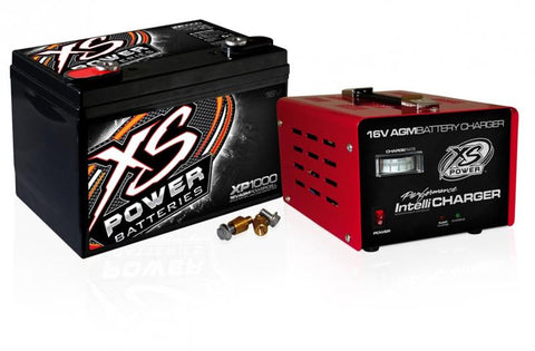 XS Power XP1000 16V Battery and 1004 16V, 15A IntelliCharger Combo XP1000CK2