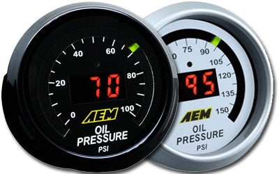 AEM Electronics Oil Pressure Display Gauges
