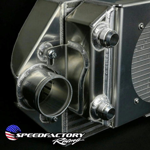SpeedFactory Racing Dual Backdoor Intercooler/Tucked Radiator Combo
