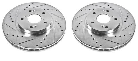 Power Stop Evolution Drilled and Slotted Rotors JBR923XPR