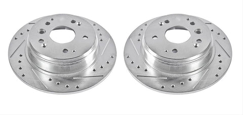 Power Stop Evolution Drilled and Slotted Rotors JBR987XPR