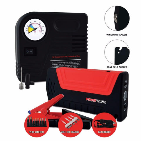 Powerforce Lithium Ion Jump Starter Personal Power Supply PF1000 with Air Compressor