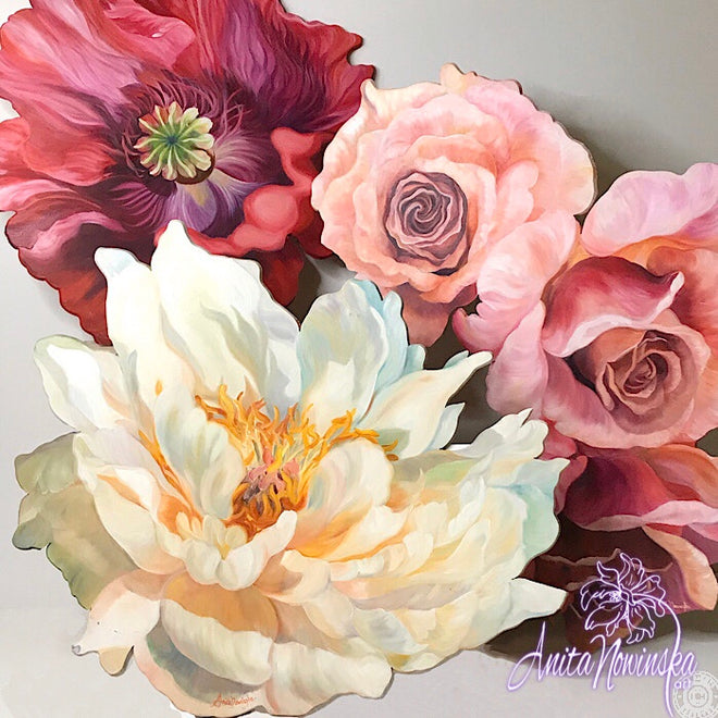 FREEFORM FLOWER PAINTINGS