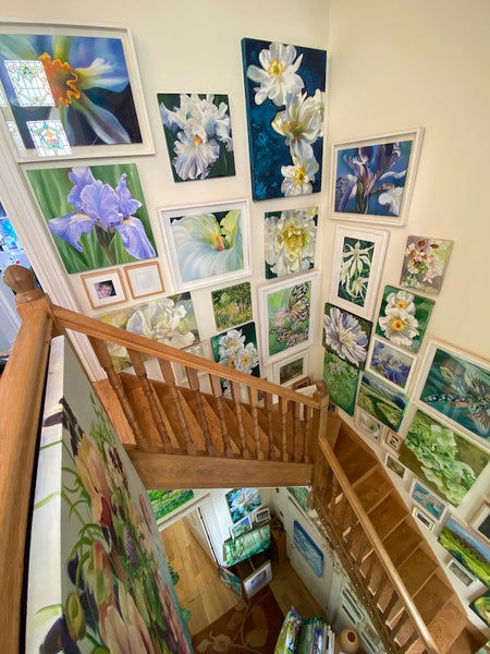 amazing gallery wall on staircase by anita nowinska