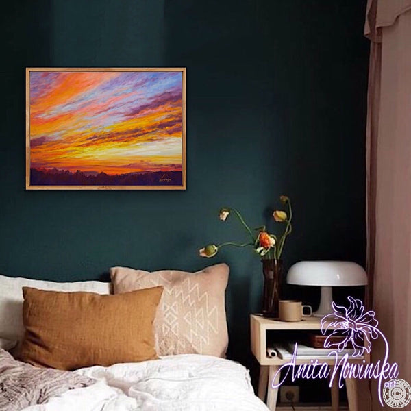 Evening Glow- Original Sunset painting