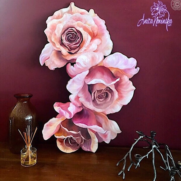 Freeform Flower Painting- Roses