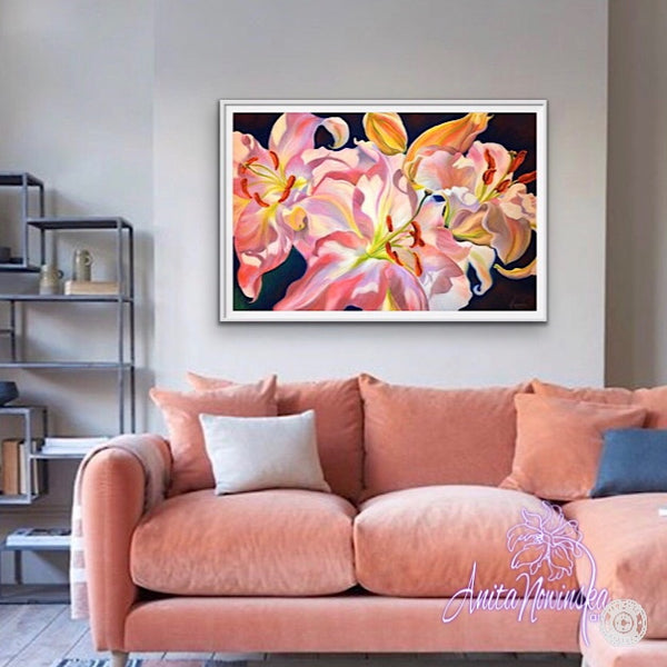 'Triumph'- Pink Lily Flower Painting