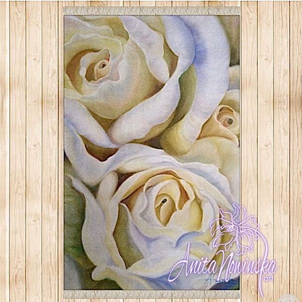 'Innocence'- White Roses Flower Painting